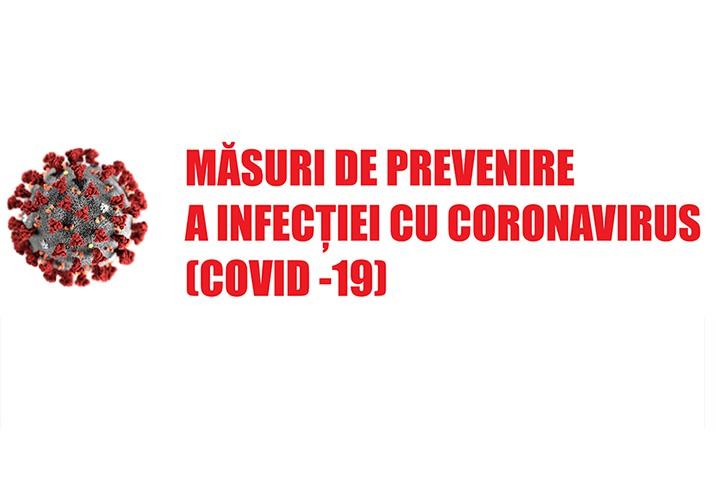 Masuri de prevenire COVID-19
